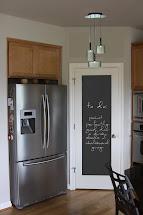 Chalkboard Paint Pantry Door
