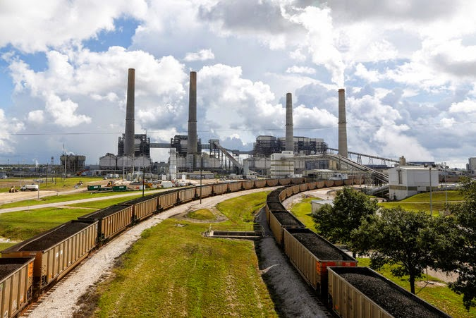 NRG has invested in the Petra Nova project, which will capture and reuse emissions from this coal-fired power plant in Texas. (Credit: Eric Kayne/Invision for NRG, via Associated Press) Click to Enlarge.