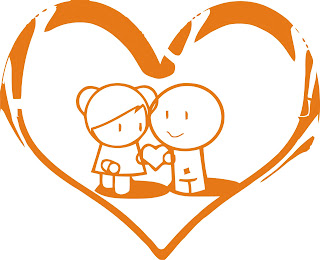 cute love pict - cartoon orange