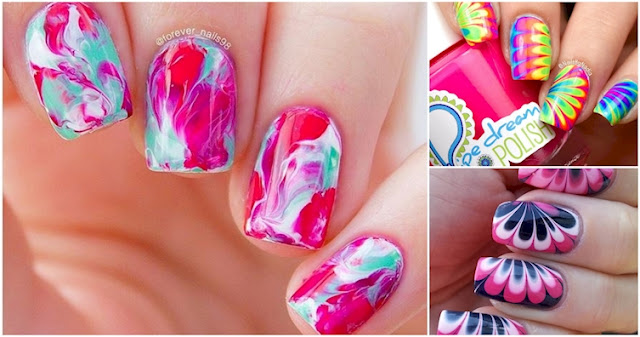10+ Water Marble Nails You'll Actually Want To Try | Nail Designs 2016-2017