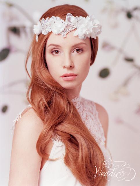 floral wedding headpiece