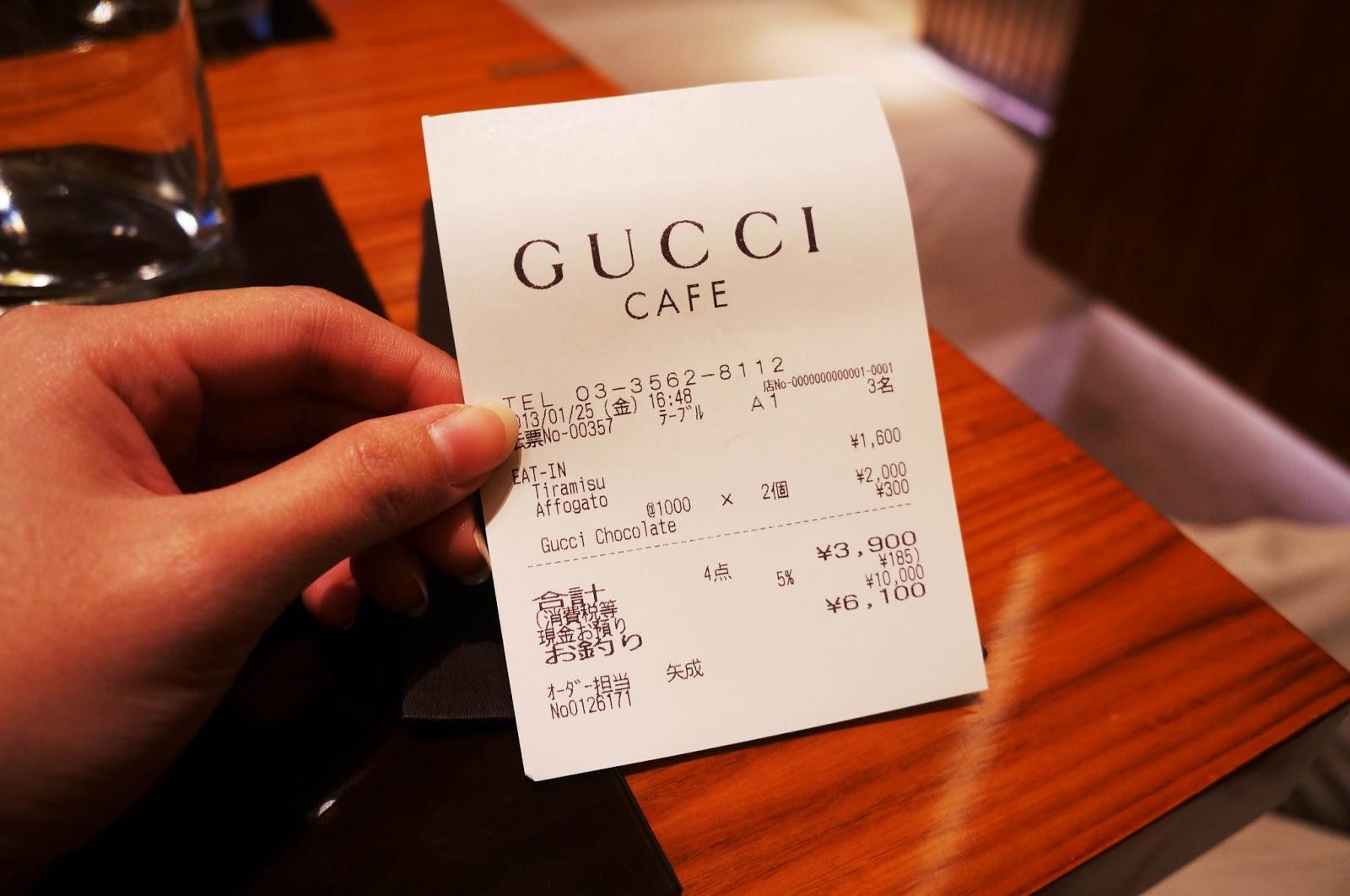 Gucci Cafe Florence Menu