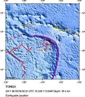 sismo Tonga 5 de septiembre 2011