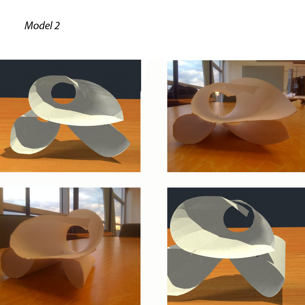 Creating An On Going Form And Sense Of Continuity Associated With Folding Architecture Ive Used This Concept As A Base For My Second Model