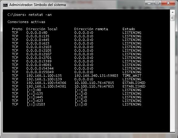 netstat windows 7