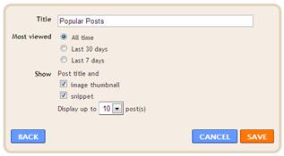 Cara Membuat Widget Popular Post di Blog