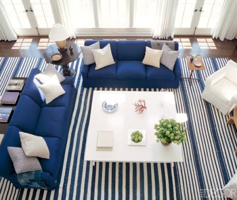 nautical decor with stripes