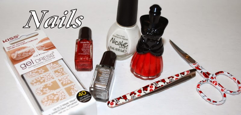 Valentine's Day Gift Ideas, Gift Ideas, Beauty Gift Guide, Valentine's Day Nails, Nail Polish, Kiss gel Dress, Arte Stile tools, nail color, anna sui, Nicole by OPI