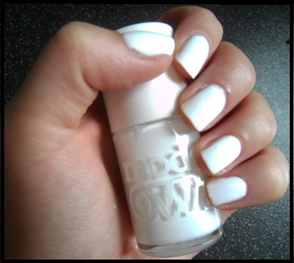 Kim Ks White Nail Polish