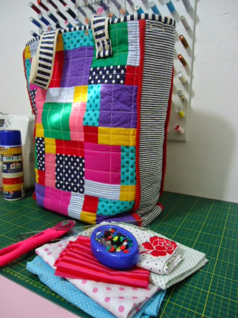 bolsa colorida de pano