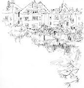 Colección de dibujos de paisajes de Erika Espinosa hampstead head park londres