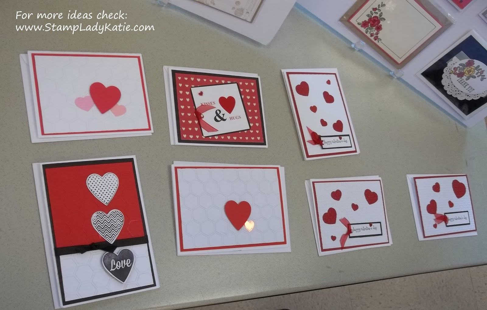 Hand made Valentines made with Stampin'UP! Product