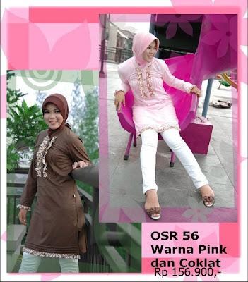 Koleksi Osmoes Kaos Muslimah Trendy Pink Coklat