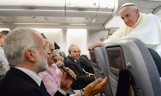 pope in plane