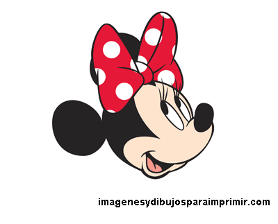 dibujo de cara de minnie mouse
