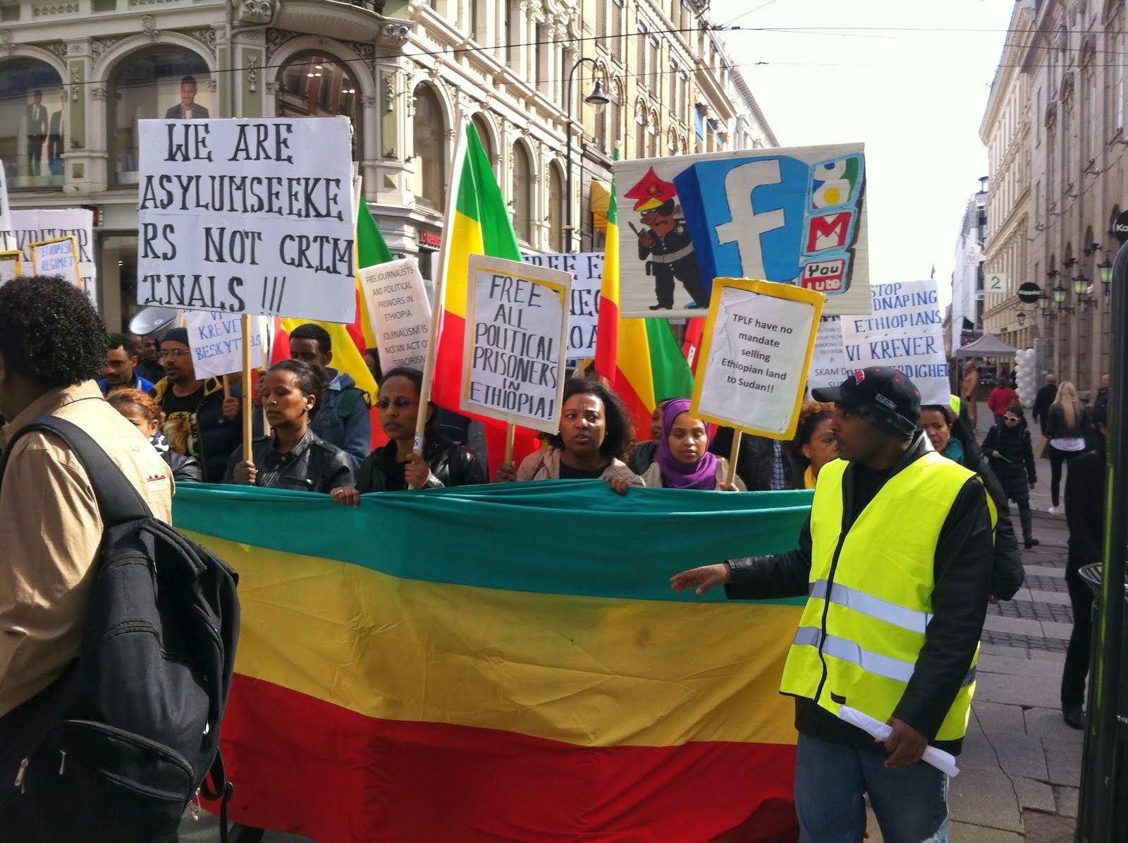 2014,protest Against The Ethiopia regime in oslo