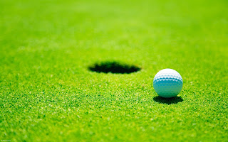 Golf Ball Hole Green Fields Grass Wallpaper