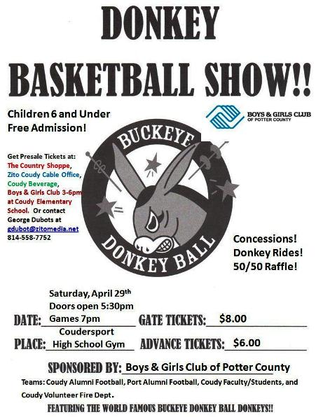 4-29 Donkey Basketball, Coudersport