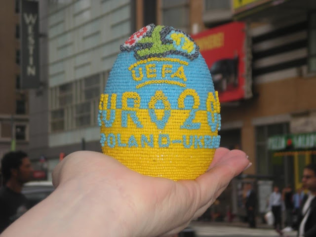UEFA Euro 2012 Beaded Egg Made by Ukrainian artist Daria Iwasko