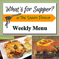 What's For Supper: Menu  November 10, 2014