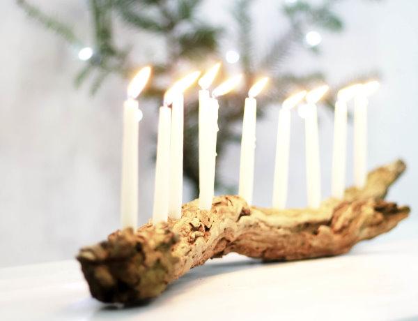 DIY Kerzenhalter aus Treibholz