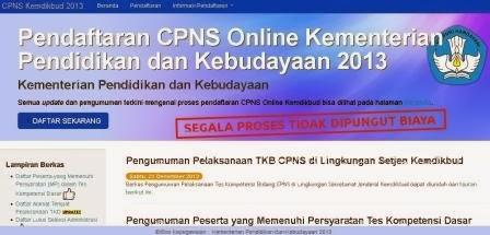 Pengumuman Hasil Tes CPNS di Lingkungan Kemdikbud