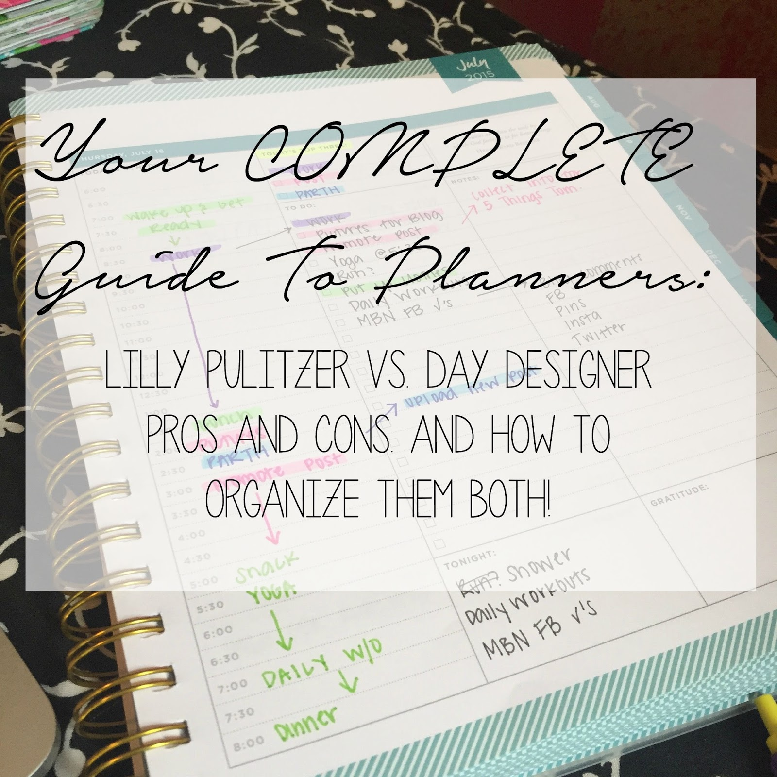 graphic relating to Day Designer Planners named Layout Ally: Lilly Pulitzer vs. Working day Designer Planners