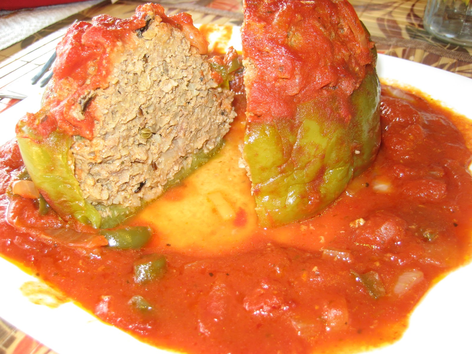 Outback Al: Hungarian Stuffed Green Peppers