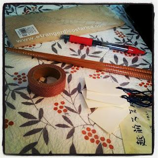 Materiales necesarios para hacer fundas para palillos