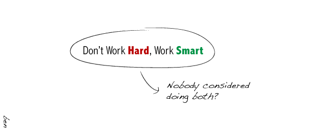 how to work hard and smart