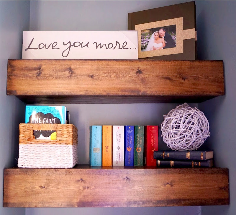 Chunky Wood Floating Shelves DIY