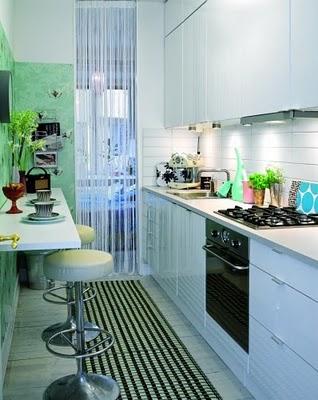 Mistura do lar cozinhas pequena for Cocinas pequenas alargadas