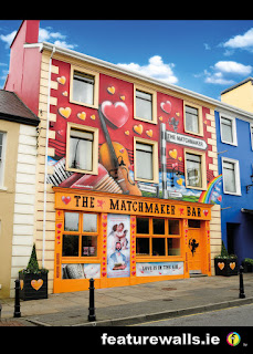 MATCHMAKER BAR MURAL PAINTING BY FEATURE WALLS PROFESSIONAL IRISH MURAL PAINTING COMPANY FEATUREWALLS.IE