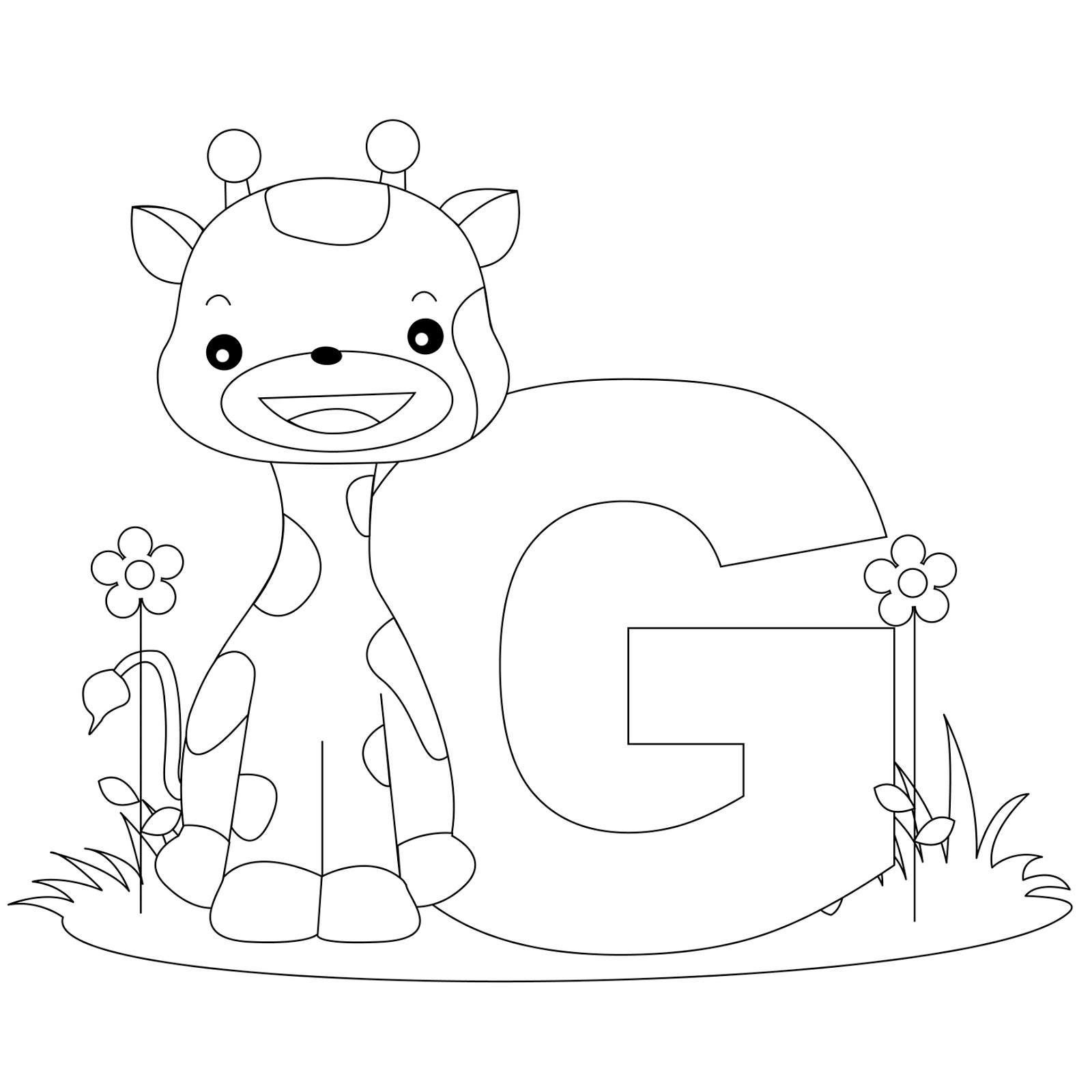 alphabet coloring pages for preschool - photo#27