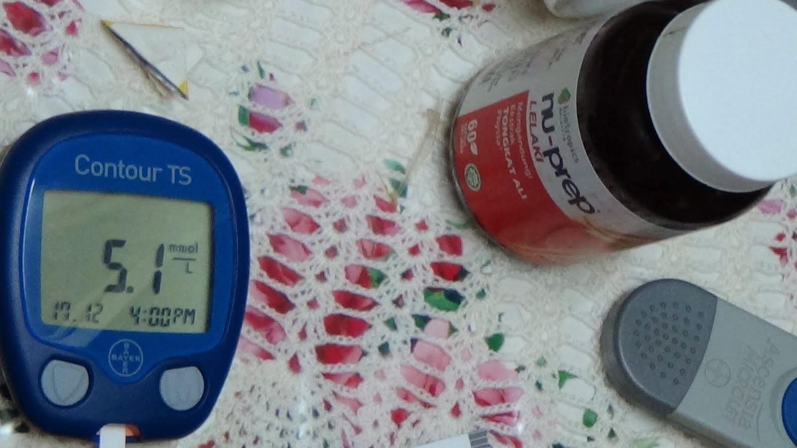 Kencing Manis TIADA 'diabetes reducer' Tongkat Ali Nu-Prep lelaki