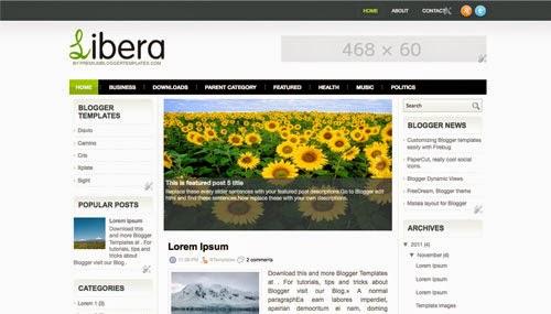 Libera - Free Blogger Template