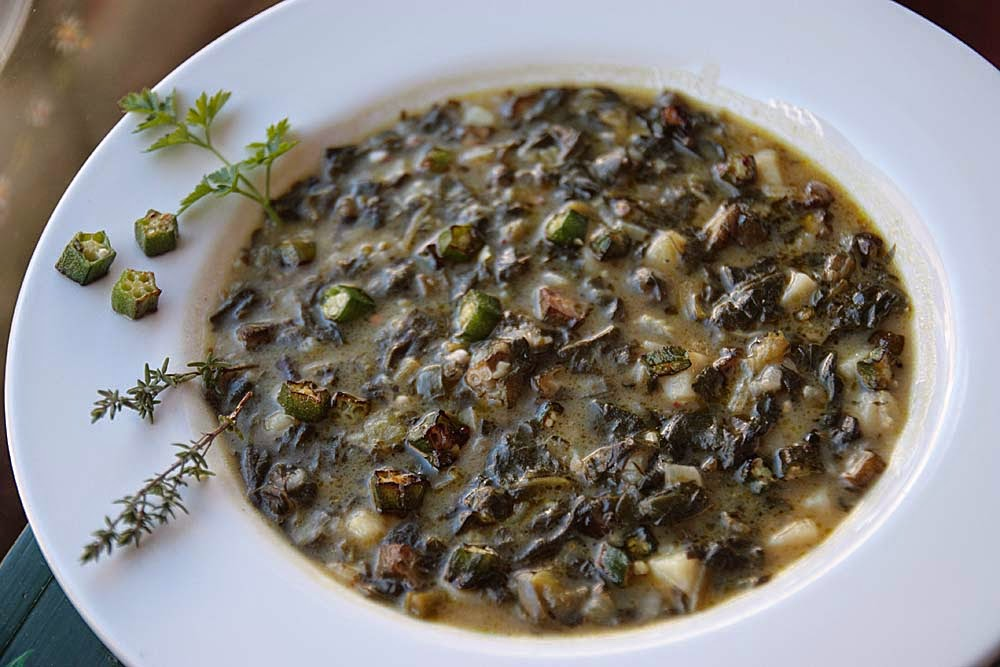 Green Gumbo Recipe — Dishmaps