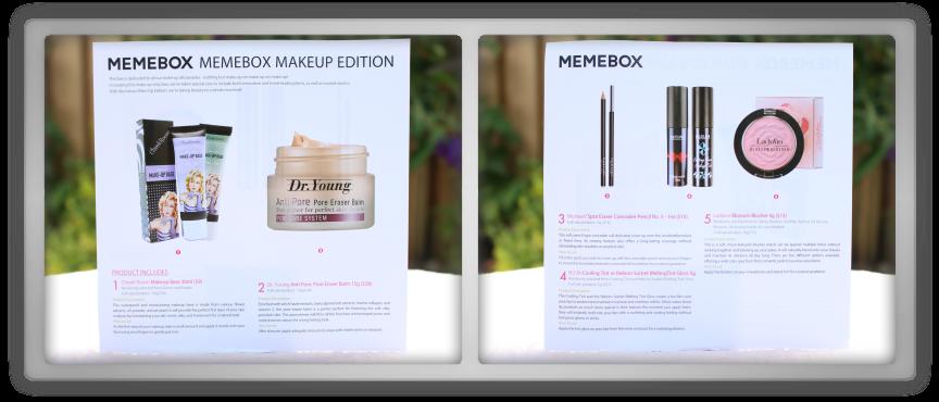 겟잇뷰티박스 by 미미박스 memebox makeup edition beautybox # unboxing review preview box paper card text info
