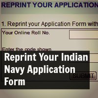 Reprint Your Indian Navy Application Form