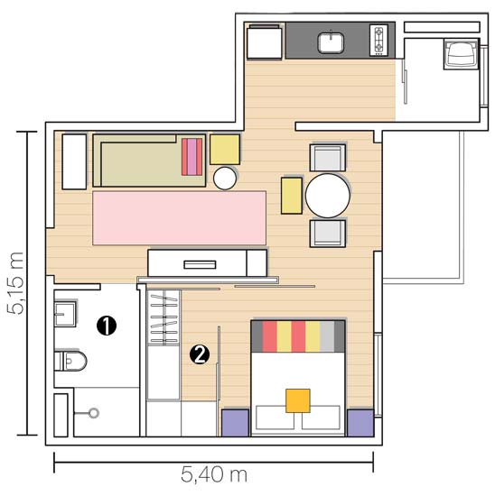 decoracao cozinha flat:Solteiras Noivas Casadas: Construção: Plantas de Casas de 1 Quarto