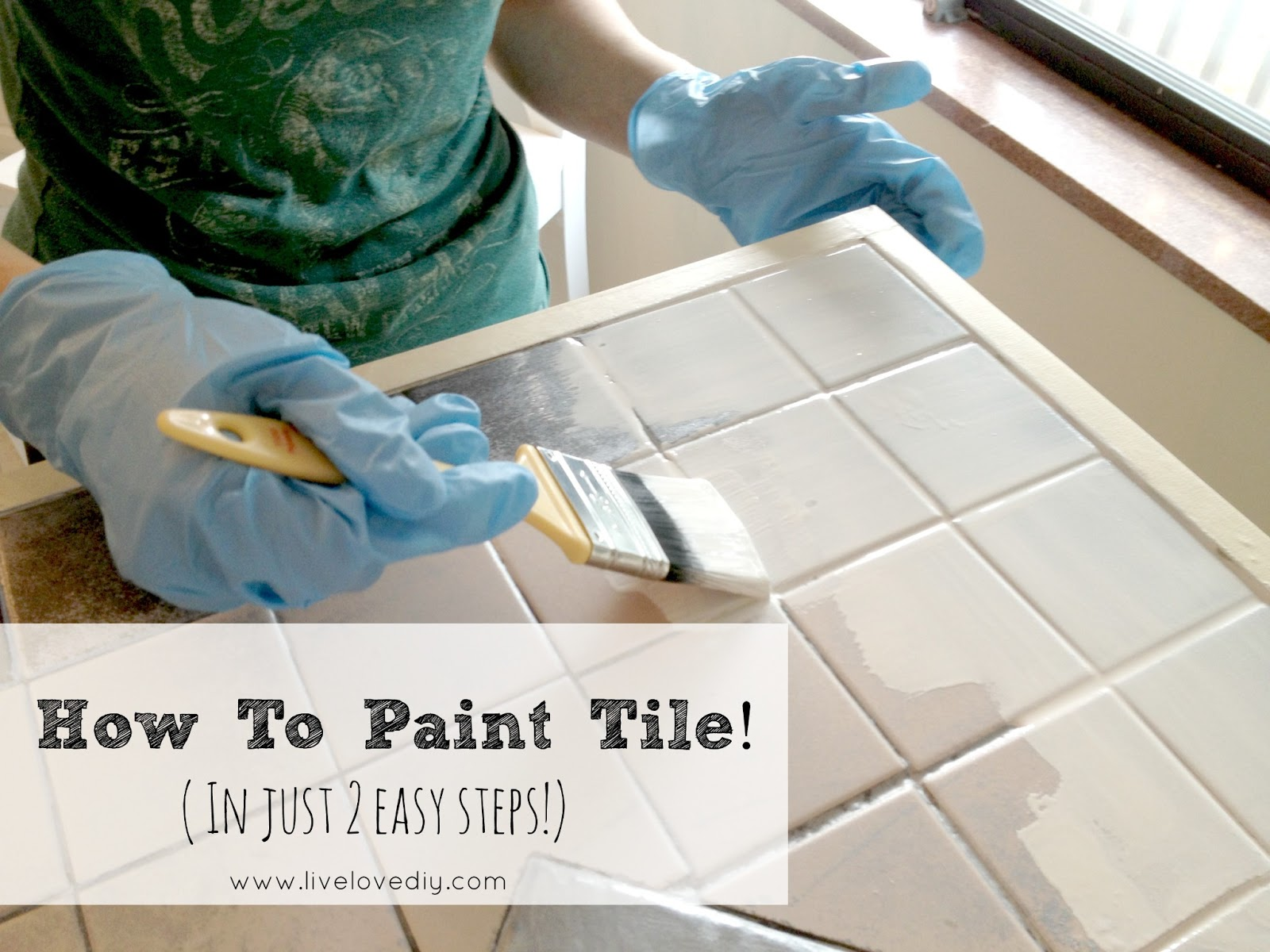 How To Paint Tile And Update Your Kitchen Livelovediy