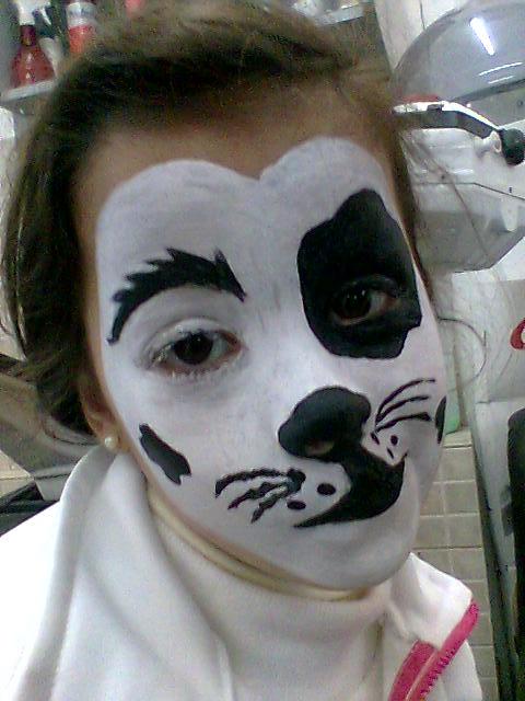 Maquillaje Artistico Carolina: Maquillaje perrito
