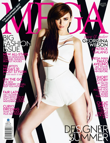 Georgina Wilson covers MEGA magazine April 2013 issue
