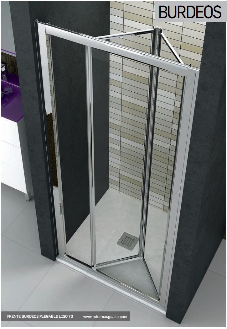 Puertas De Baño Tipo Acordeon:BURDEOS: Mampara de puerta plegable para la ducha ~ Reformas Guaita