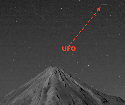 Cylinder UFO Above Popocatenetl Volcano 2015, UFO Sightings