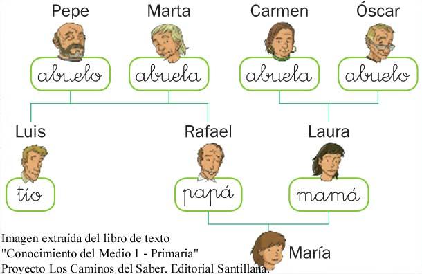Arbol genealogico de familia en inglés - Imagui
