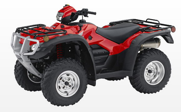 2011 Honda TRX500PG CTE Canadian Trail Edition Rubicon Red colour