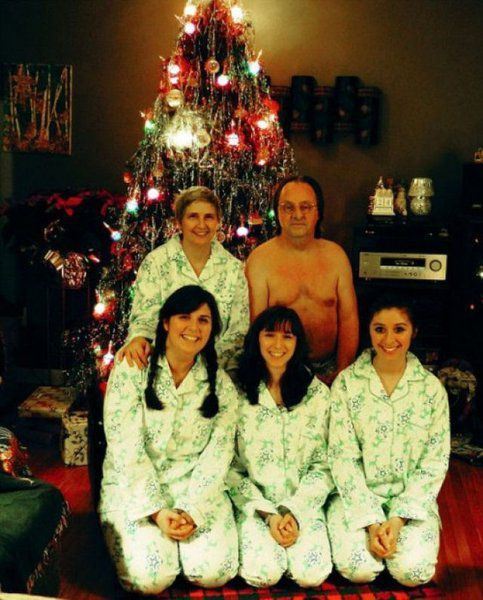 Dad, Put Your Clothes On ! Christmas Card