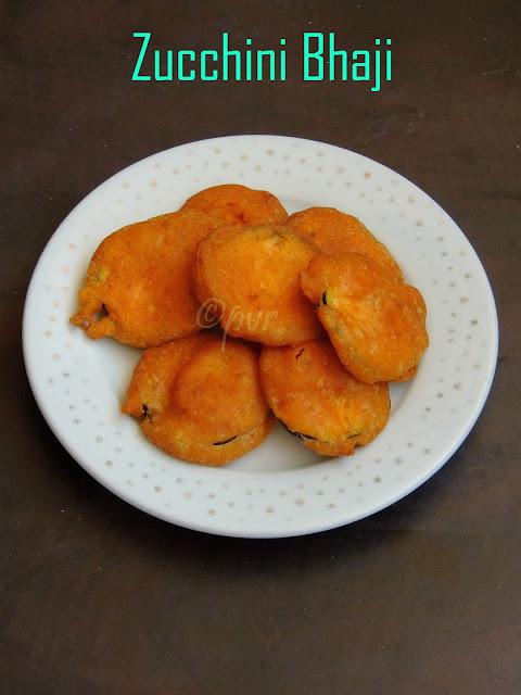 Zucchini Fritters, Zucchini Bhaji