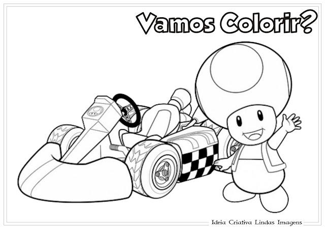 Desenho do Super Mario para colorir